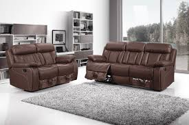 2 Seat Leather Reclining Sofa Top Grain Leather Reclining Sofa Top Grain Leather In Tobacco