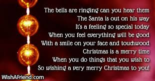 bells christmas poem children