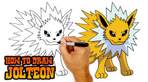 how to draw jolteon pokemon youtube