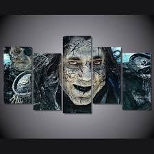 horror home decor aliexpress com buy 5 pieces canvas paintings hd printed pirates