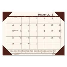 desk pad calendar 2018 house of doolittle ecotones cream brown monthly desk pad calendar