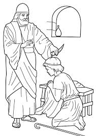 Samuel Anointed Saul As King Saul Coloring Page Netart Samuel Coloring Pages