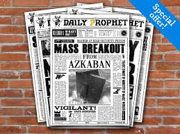 Harry Potter Bathroom Accessories Printable Daily Prophet Covers Harry Potter Newspaper Fourth