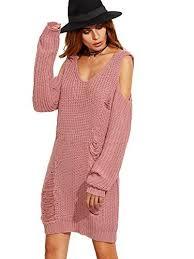 casual sweater dress amazon com