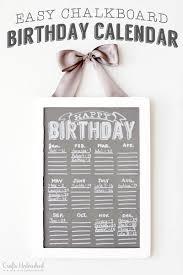 birthday calendar free chalkboard printable tutorial
