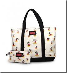 disney discoveries vintage mickey mouse tote bag coin purse
