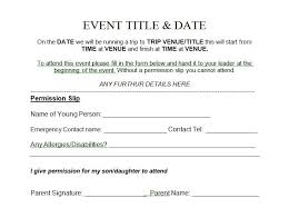 35 permission slip templates u0026 field trip forms