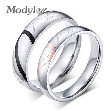 wedding rings new images 2018 new fashion heart ring lovers wedding rings stainless steel jpg