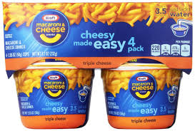 kraft easy mac triple cheese 2 05 ounce each 4 count cups pack