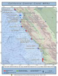 Map Of The Coast Of California Central California Marine Protected Areas