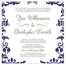 Damask Wedding Invitations Damask Wedding Invitation Navy And Grey Calligraphy Font U2013 Sofia