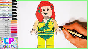 lego poison ivy from batman coloring pages part 16 batman