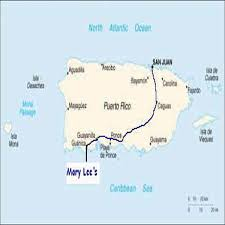 The Map Of Puerto Rico by Directions Mary Lee U0027s By The Sea