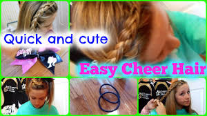 quick and easy cheer practice hairstyles youtube