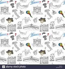 Map Of Italy by Venice Italy Seamless Pattern Hand Drawn Sketch With Map Of Italy