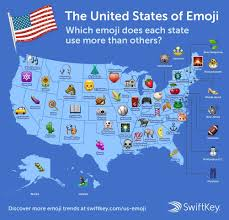Maps Of Illinois by The People Of Illinois Use This Emoji The Most Full Us Map Of