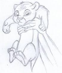 disney sketch simba lion king disney lions