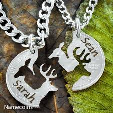 Buck And Doe Couples Necklace 23 Best Buck And Doe Necklaces Images On Pinterest Coins Half