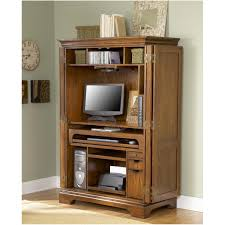 Locking Computer Armoire Armoire Corner Computer Armoire Plans Sedona Rustic Oak Wood