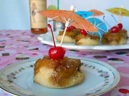 boozy pineapple upside down cupcakes