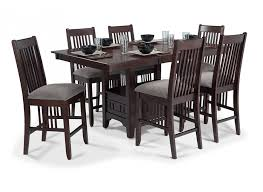 Decor Exciting WELL FLEET PUB  PIECE Dark Brown Wood Finish For - Dining room table with hidden chairs