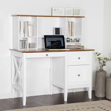 White Desk With Hutch Desk White Desk For With Regard To Striking Decorating