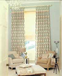 interior unique wooden table and glamorous window treatments for