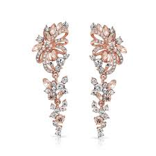 earrings for prom gold plated flower chandelier earrings