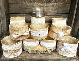 jar centerpieces set of 10 jar sleeves wedding decor rustic wedding