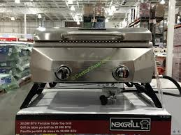 costco fold up table nexgrill 19 table top gas bbq 20 000 total btu costcochaser