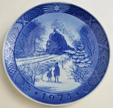 royal copenhagen plate going home for 1973