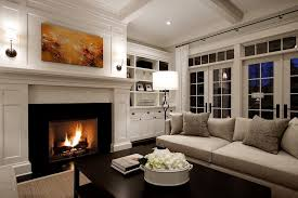 seattle fireplace mantel height living room traditional with dark