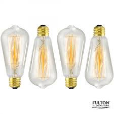 4 pack edison bulb 60 watt st64 squirrel cage filament