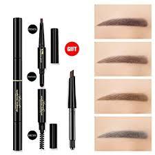 light grey eyebrow pencil amazon com 3 in 1 automatic eyebrow powder eyebrow brush