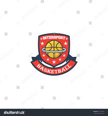 intersport basketball inter sport logo vector stock vector 721435522