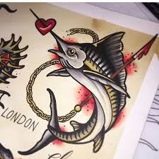 marlin tattoo kuta swordfish marlin tattoo traditional piece tattoos pinterest