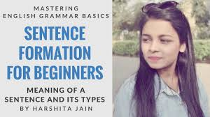 Types Meaning English Grammar Basics Sentence Formation For Beginners Meaning