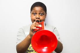 amazon com pbone ptrumpet1r plastic trumpet red musical instruments