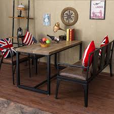 Retro Sofa Table Restaurant Retro Sofa Chair Iron Metal Frame Fighting Back Casual