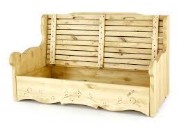 canapé en pin canapé 2 places avec coffre pin massif sculpté vanoise dahu
