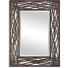Metal Framed Mirrors Bathroom Overstock Dorigrass Distressed Mocha Rustic Metal Framed