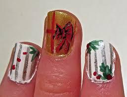 christmas wrapping paper nails nail art lab