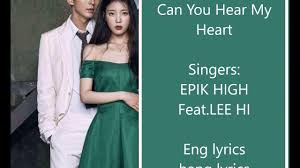 hi can moonlovers ost can you hear my heart ft lee hi youtube
