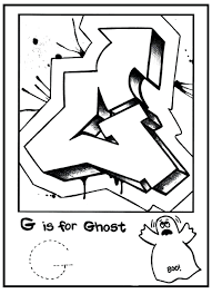 printable letters alphabet coloring pages free graffiti bubble for