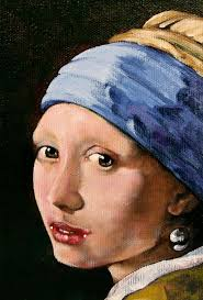 vermeer earring girl with a pearl earring a reproduction of vermeer painting by