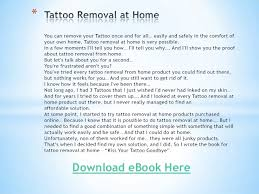 tattoo removal at home