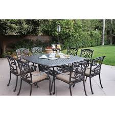 9 Piece Wicker Patio Dining Set - darlee ocean view aluminum 9 piece square patio dining set hayneedle