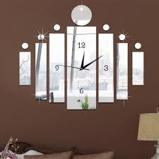 funlife diy 3d mirror clock wall art stickers decor for living room diy 3d clock mirror wall stickers decor