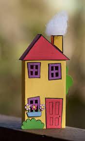colourful matchbox house paper crafts scrapbooking atcs