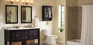 bathroom installation at the home depot